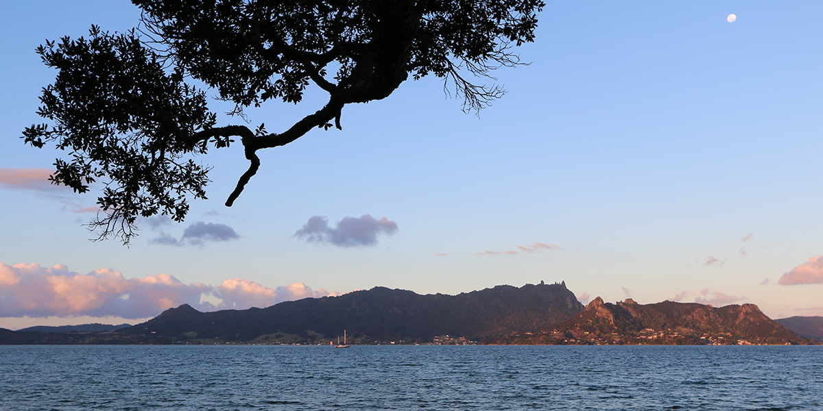 Omnipresent Mt Manaia is viewed from every corner